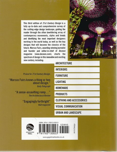 Back cover of 21st Century Design by Marcus Fairs