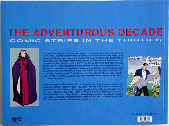 Back cover of The Adventurous Decade by Ron Goulart