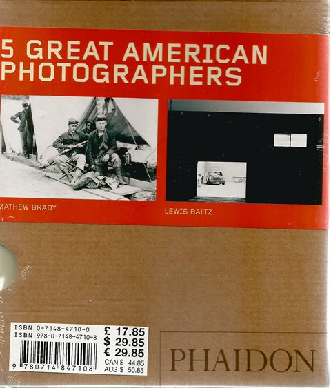 Back cover of 5 Great American Photographers by Phaidon Press