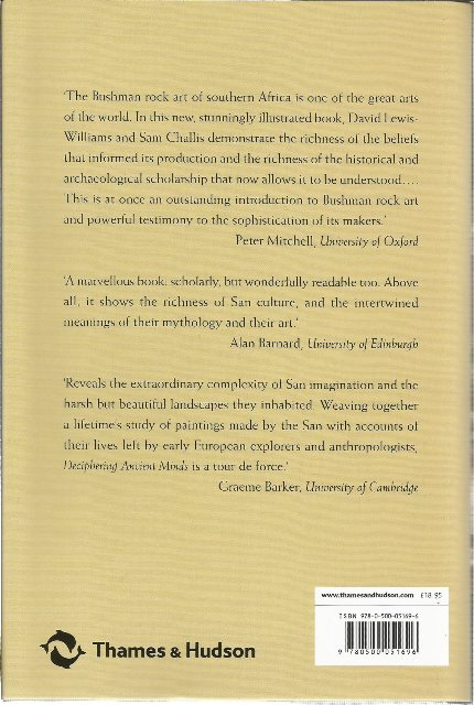 Back Cover of Deciphering Ancient Minds by D. Lewis-Williams & S. Challis