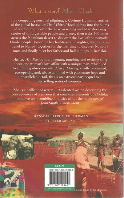 Back cover of Africa, My Passion by Corinne Hofmann