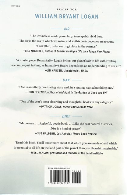 Back cover of Air by William Bryant Logan