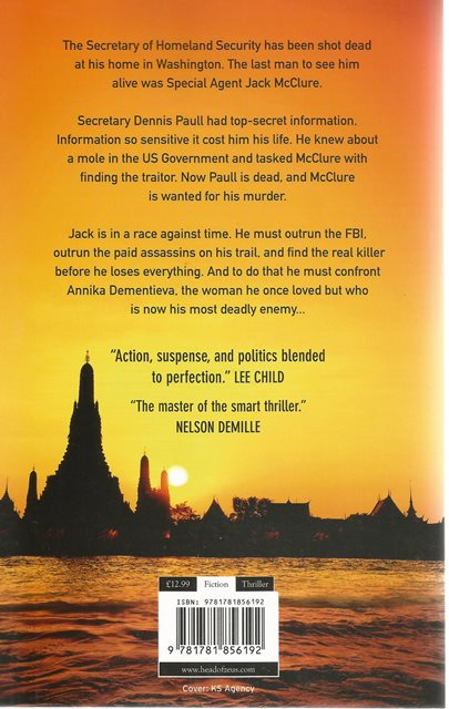 Back cover of Beloved Enemy by Eric van Lustbader