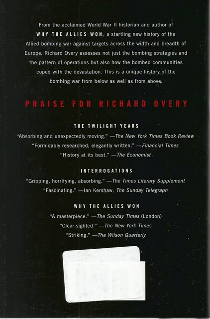 Back cover of The Bombers and the Bombed by Richard Overy