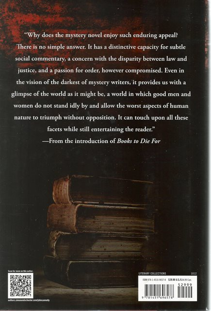 Back cover of Books to Die For by John Connolly and Declan Burke