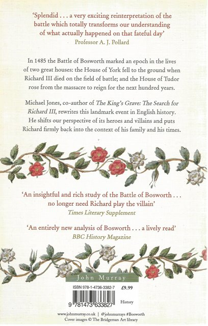 Back cover of Bosworth 1485 by Michael Jones