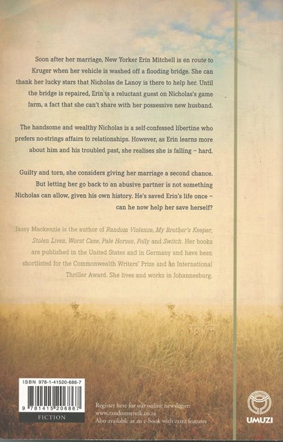 Back cover of Breathless by Jassy Mackenzie