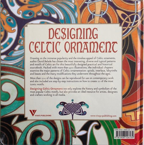 Back cover of Designing Celtic Ornament by David Balade