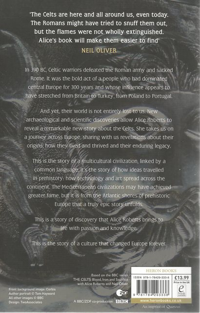 Back cover of The Celts by Alice Roberts