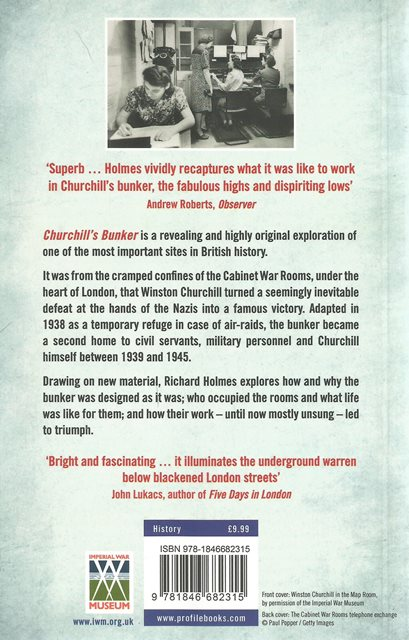 Back cover of Churchill's Bunker by Richard Holmes