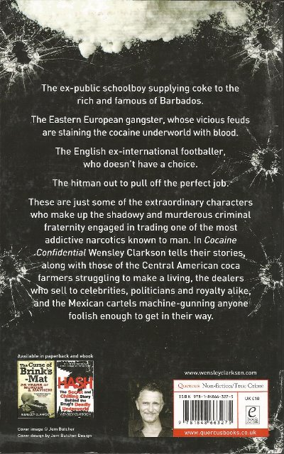 Back cover of Cocaine Confidential by Wensley Clarkson