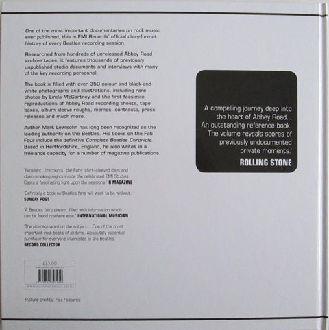 Back cover of The Complete Beatles Recording Sessions by Mark Lewisohn