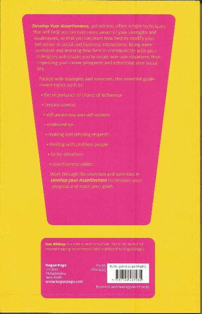 Back cover of Develop Your Assertiveness by Sue Bishop