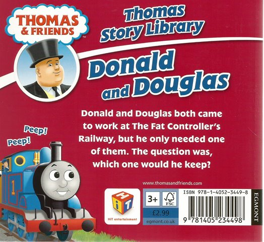 Back cover of Thomas & Friends: Donald and Douglas by W. Awdry