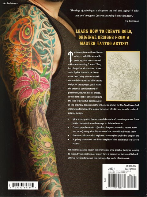 Back cover of Drawing and Designing Tattoo Art by Fip Buchanan
