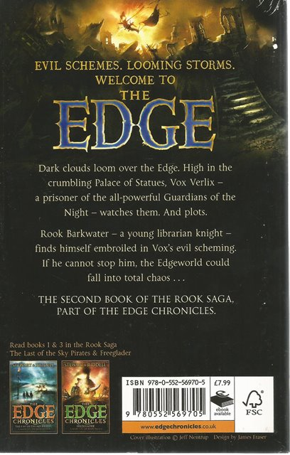 Back Cover of The Edge Chronicles: Vox by Paul Stewart and Chris Riddell