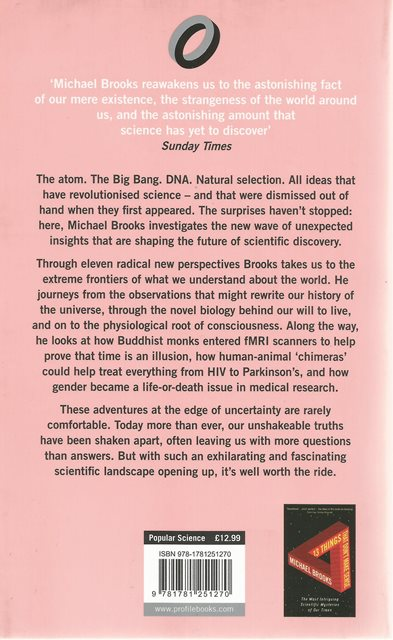 Backcover of At the Edge of Uncertainty by Michael Brooks