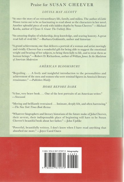 Back cover of e e cummings by Susan Cheever