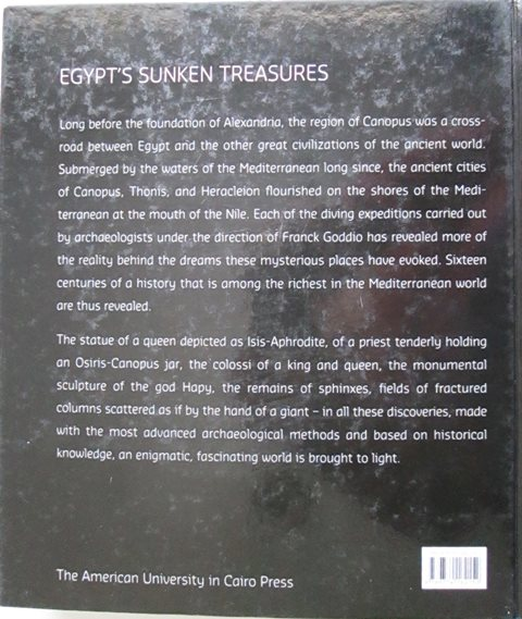 Back cover of Egypt's Sunken Treasures by Franck Goddio
