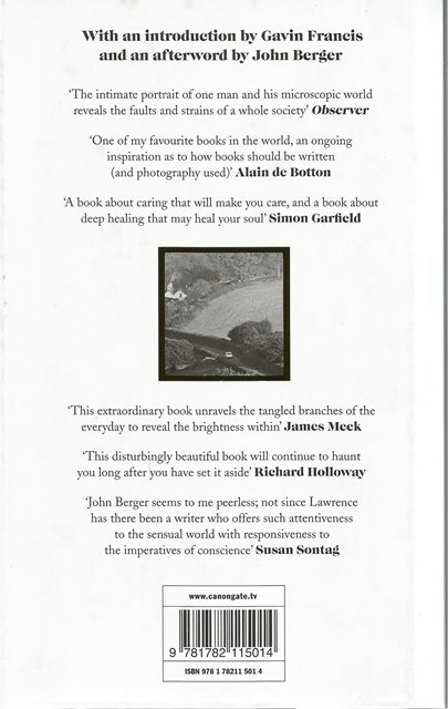Back cover of A Fortunate Man by John Berger