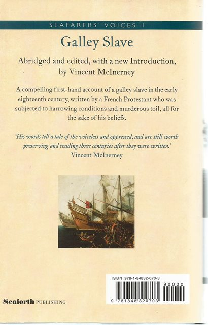 Back cover of Galley Slave by Jean Marteilhe