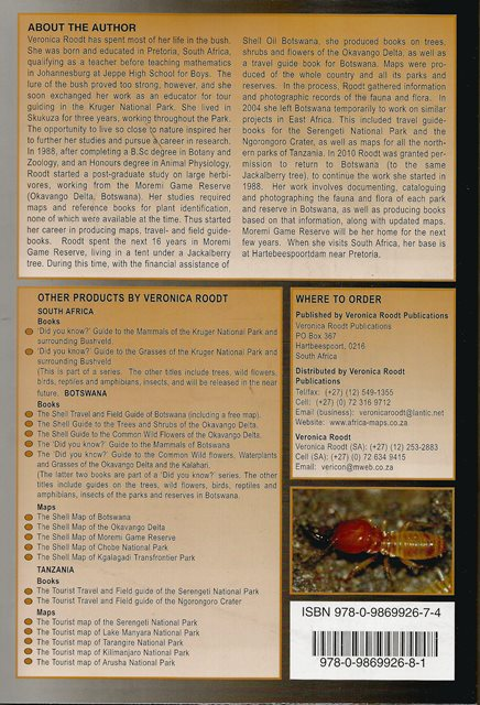 Back cover of Grasses of the Kruger National Park by Veronica Roodt