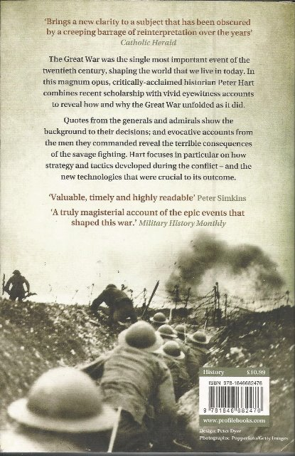 Back cover of The Great War 1914-1918 by Peter Hart