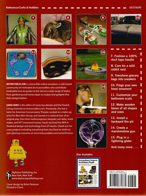 Back cover of How to do Absolutely Everything by Instructables.com