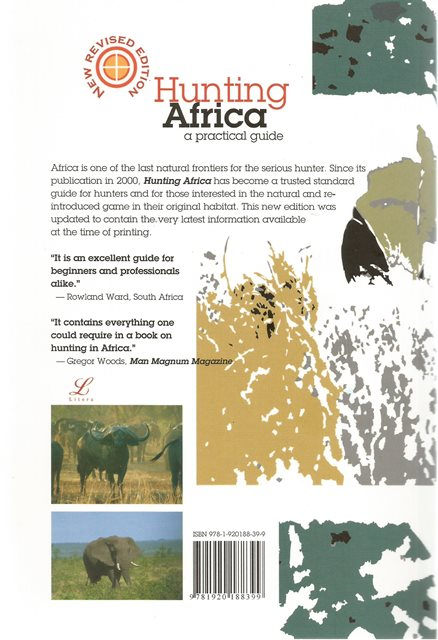 Back cover of Hunting Africa by Dirk Botes, Pieter Smit & Gerhard Swan