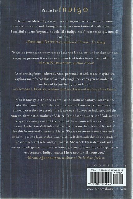 Back cover of Indigo by Catherine E McKinley