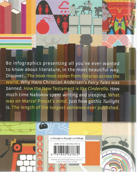 Back cover of Infographic Guide to Literature by Joanna Eliot