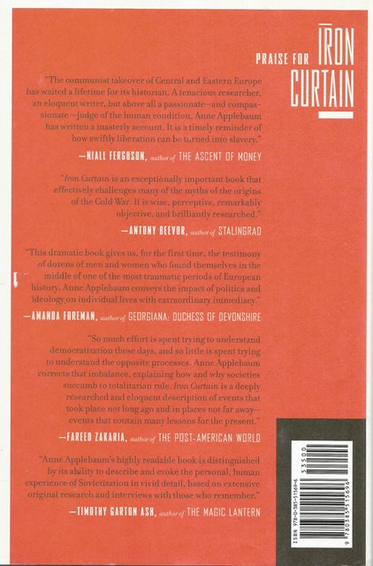 Back cover of Iron Curtain by Anne Applebaum