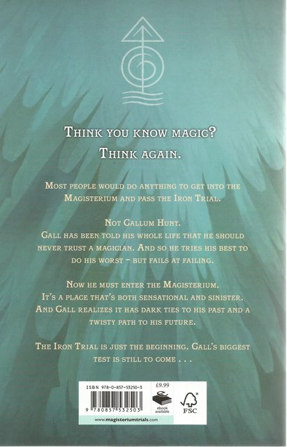 Back cover of Magisterium: The Iron Trial by Holly Black and Cassandra Clare