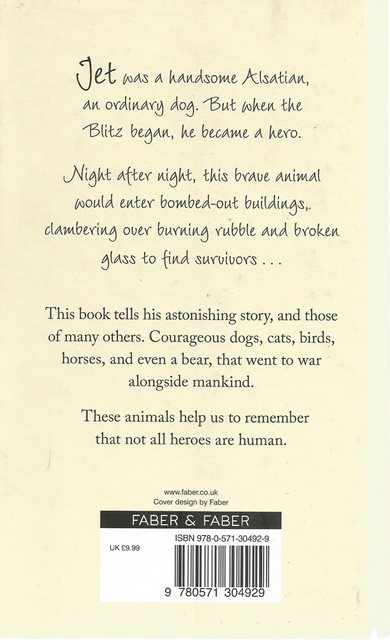 Back  cover of Jet the Rescue Dog by David Long