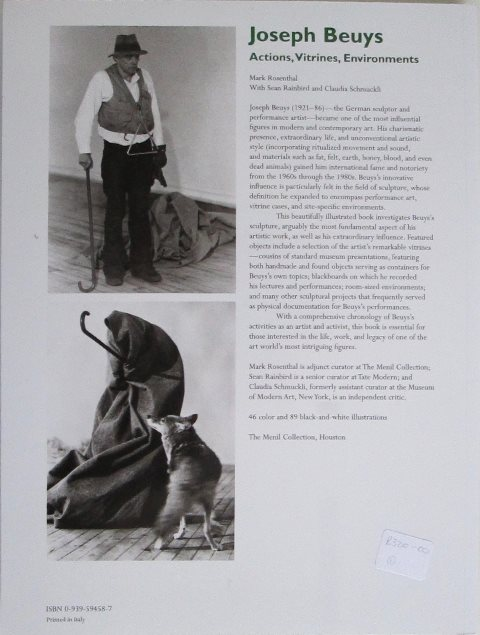 Back cover of Joseph Beuys by Mark Rosenthal
