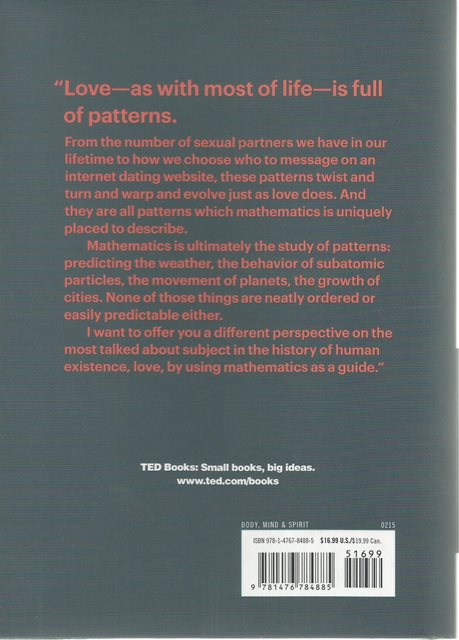 Back cover of The Mathematics of Love by Hannah Fry