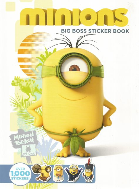 Front cover of Minions: Big Boss Sticker Book