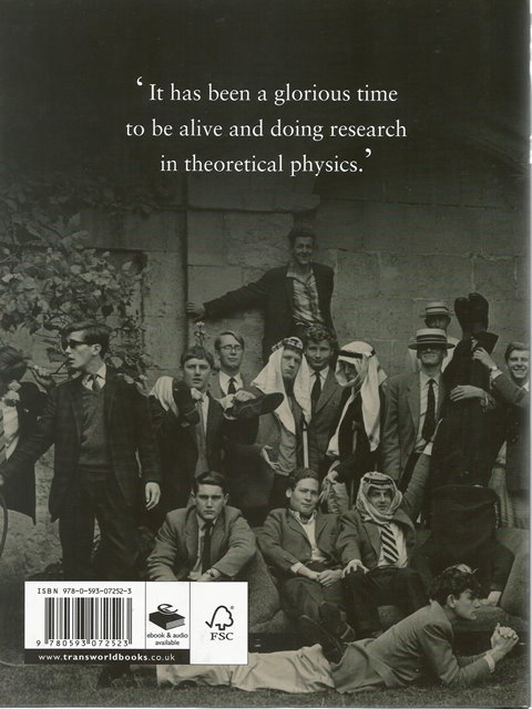 Back cover of My Brief History by Stephen Hawking