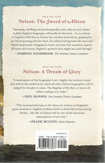 Back cover of Nelson by John Sugden