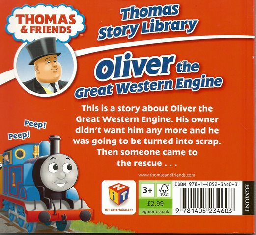 Back cover of Thomas & Friends: Oliver the Great Western Engine by W. Awdry