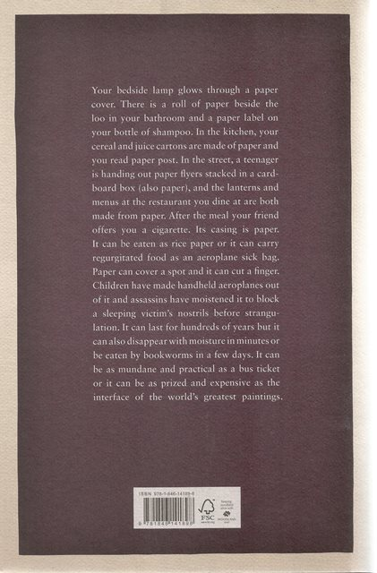 Back cover of The Paper Trail by Alexander Monro