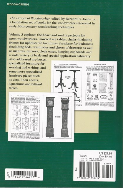 Back cover of The Practical Woodworker Volume 3 edited by Bernard E Jones