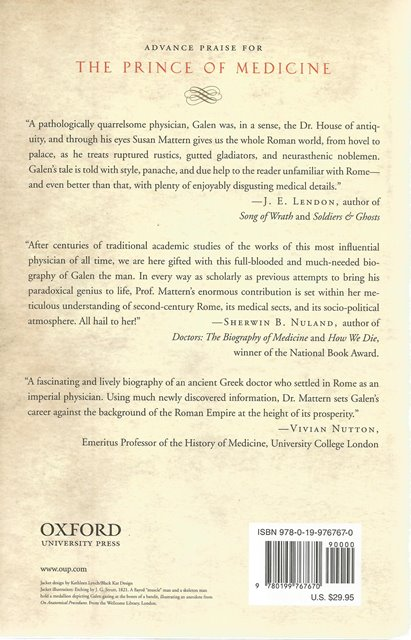 Back cover of The Prince of Medicine by Susan P Mattern