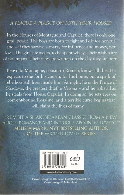 Back cover of Prince of Shadows by Rachel Caine