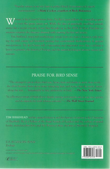 Back cover of The Red Canary by Tim Birkhead