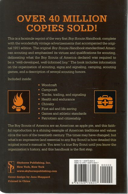 Back cover of Boy Scouts Handbook by Boy Scouts of America