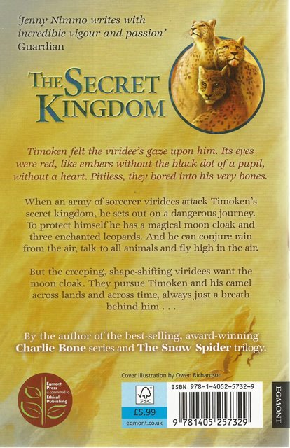 Back cover of The Secret Kingdom by Jenny Nimmo