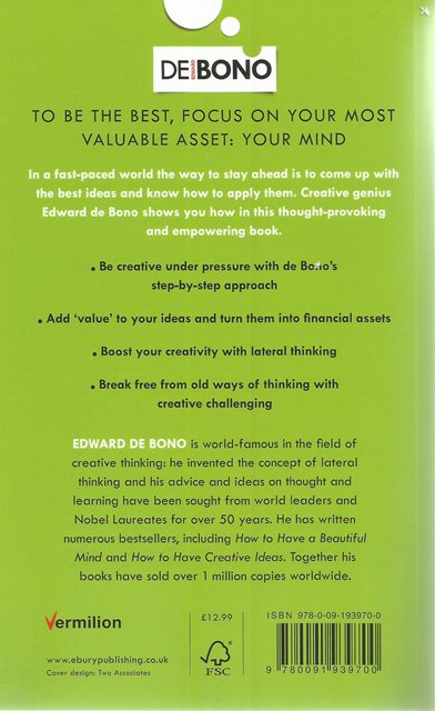 Back Cover of Serious Creativity by Edward de Bono