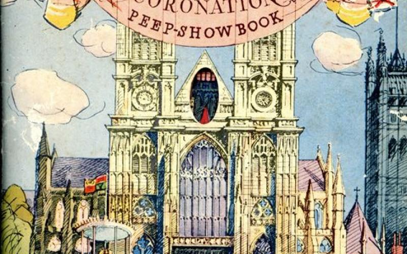 Front cover of Coronation Peep-Show Book by Edwin Smith
