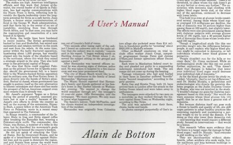 Front cover of The News by Alain de Botton